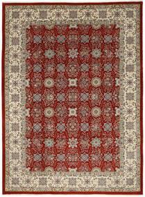 Ilam Sherkat Farsh Silkki Matto 250X348 Itämainen Käsinsolmittu Vaaleanharmaa/Tummanpunainen Isot (Villa/Silkki, Persia/Iran)