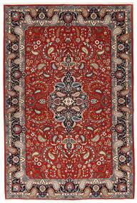 Ilam Sherkat Farsh Silkki Matto 140X210 Itämainen Käsinsolmittu Tummanpunainen/Beige (Villa/Silkki, Persia/Iran)