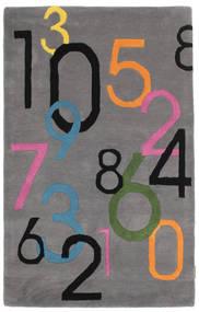 Lucky Numbers - Harmaa Matto 100X160 Moderni Tummanruskea/Tummanharmaa (Villa, Intia)