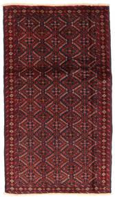Beluch Matto 94X166 Itämainen Käsinsolmittu Tummanpunainen/Tummanruskea (Villa, Persia/Iran)