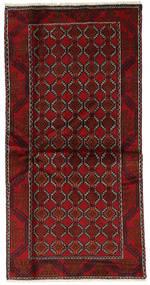 Beluch Matto 98X197 Itämainen Käsinsolmittu Tummanpunainen (Villa, Persia/Iran)