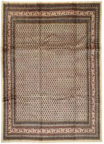 Arak Matto 245X345 Itämainen Käsinsolmittu Tummanruskea/Vaaleanruskea (Villa, Persia/Iran)