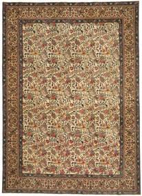 Tabriz Patina Matto 253X360 Itämainen Käsinsolmittu Vaaleanruskea/Ruskea Isot (Villa, Persia/Iran)