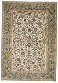 Keshan Patina Matto 214X302 Itämainen Käsinsolmittu Vaaleanruskea/Vaaleanharmaa (Villa, Persia/Iran)