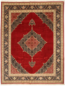 Tabriz 50 Raj Silkillä Matto 250X322 Itämainen Käsinsolmittu Tummanpunainen/Tummanruskea Isot (Villa/Silkki, Persia/Iran)