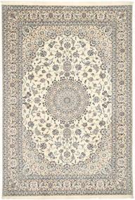 Nain 6La Habibian Matto 208X306 Itämainen Käsinsolmittu Vaaleanharmaa/Beige (Villa/Silkki, Persia/Iran)