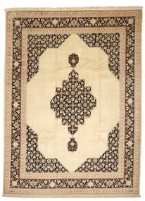 Tabriz 50 Raj Silkillä Matto 250X338 Itämainen Käsinsolmittu Tummanbeige/Beige Isot (Villa/Silkki, Persia/Iran)