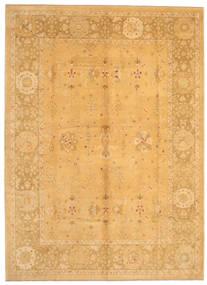 Usak Matto 283X386 Itämainen Käsinsolmittu Vaaleanruskea/Keltainen Isot (Villa, Turkki)