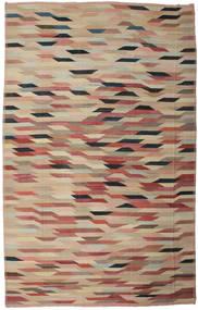 Kelim Ariana Matto 345X538 Moderni Käsinkudottu Tummanpunainen/Vaaleanruskea Isot (Villa, Afganistan)