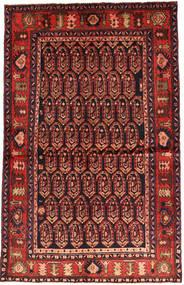 Nahavand Matto 130X206 Itämainen Käsinsolmittu Tummanpunainen/Ruoste (Villa, Persia/Iran)