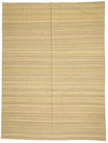 Kelim Moderni Matto 214X285 Moderni Käsinkudottu Tummanbeige/Beige (Villa, Afganistan)