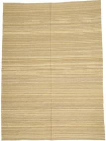 Kelim Moderni Matto 205X280 Moderni Käsinkudottu Tummanbeige/Vaaleanvihreä/Beige (Villa, Afganistan)