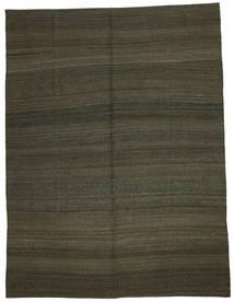Kelim Moderni Matto 216X284 Moderni Käsinkudottu Tummanruskea/Tummanvihreä (Villa, Afganistan)