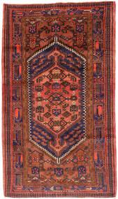 Hamadan Matto 143X247 Itämainen Käsinsolmittu Tummanpunainen/Punainen (Villa, Persia/Iran)