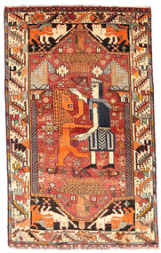 Ghashghai Matto 103X169 Itämainen Käsinsolmittu Tummanruskea/Tummanpunainen (Villa, Persia/Iran)