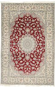 Nain 9La Matto 202X310 Itämainen Käsinsolmittu Vaaleanharmaa/Beige (Villa/Silkki, Persia/Iran)