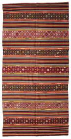 Kelim Semiantiikki Turkki Matto 177X355 Itämainen Käsinkudottu Tummanpunainen/Tummanruskea (Villa, Turkki)