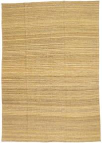 Kelim Moderni Matto 199X283 Moderni Käsinkudottu Tummanbeige/Vaaleanruskea (Villa, Afganistan)