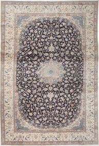 Nain 9La Matto 408X610 Itämainen Käsinsolmittu Vaaleanharmaa/Tummanharmaa Isot (Villa/Silkki, Persia/Iran)