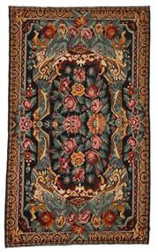 Ruusukelim Moldavia Matto 214X357 Itämainen Käsinkudottu Tummanruskea/Tummanharmaa (Villa, Moldova)