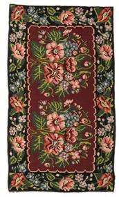 Ruusukelim Moldavia Matto 152X270 Itämainen Käsinkudottu Tummanpunainen/Tummanruskea (Villa, Moldova)
