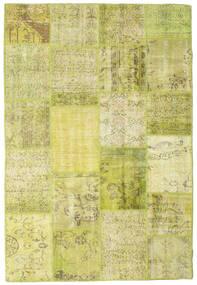 Patchwork Matto 156X231 Moderni Käsinsolmittu Keltainen/Oliivinvihreä (Villa, Turkki)