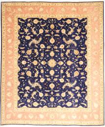 Tabriz 50 Raj Silkillä Matto 252X300 Itämainen Käsinsolmittu Tummanbeige/Tummanvioletti Isot (Villa/Silkki, Persia/Iran)