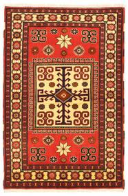 Kazak Matto 103X160 Itämainen Käsinsolmittu Tummanruskea/Punainen (Villa, Pakistan)