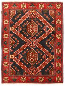 Kazak Matto 152X198 Itämainen Käsinsolmittu Musta/Tummanpunainen (Villa, Pakistan)