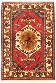 Kazak Matto 105X154 Itämainen Käsinsolmittu Oranssi/Beige (Villa, Pakistan)