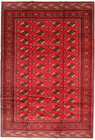 Turkaman Matto 201X293 Itämainen Käsinsolmittu Ruoste/Tummanpunainen/Punainen (Villa, Persia/Iran)