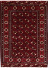 Turkaman Matto 208X287 Itämainen Käsinsolmittu Tummanpunainen/Tummanruskea (Villa, Persia/Iran)