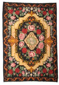 Ruusukelim Moldavia Matto 245X347 Itämainen Käsinkudottu Musta/Punainen (Villa, Moldova)