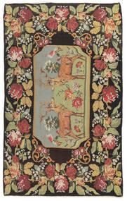Ruusukelim Moldavia Matto 178X295 Itämainen Käsinkudottu Tummanharmaa/Tummanbeige (Villa, Moldova)