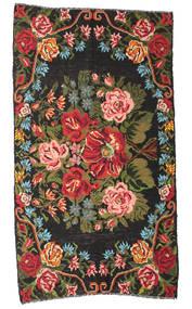 Ruusukelim Moldavia Matto 178X324 Itämainen Käsinkudottu Musta/Tummanruskea (Villa, Moldova)