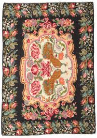 Ruusukelim Moldavia Matto 205X290 Itämainen Käsinkudottu Musta/Oliivinvihreä (Villa, Moldova)