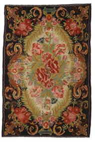Ruusukelim Moldavia Matto 194X297 Itämainen Käsinkudottu Punainen/Tummanruskea (Villa, Moldova)