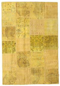 Patchwork Matto 158X231 Moderni Käsinsolmittu Keltainen (Villa, Turkki)