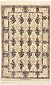 Isfahan Silkkiloimi Allekirjoitettu: Hossein Davari Matto 97X150 Itämainen Käsinsolmittu Beige/Tummanbeige (Villa/Silkki, Persia/Iran)