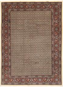 Moud Sherkat Farsh Matto 203X283 Itämainen Käsinsolmittu Vaaleanharmaa/Tummanpunainen (Villa/Silkki, Persia/Iran)