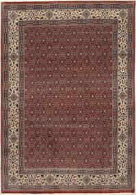 Moud Sherkat Farsh Matto 201X292 Itämainen Käsinsolmittu Tummanpunainen/Tummanharmaa (Villa/Silkki, Persia/Iran)