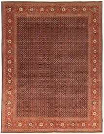 Tabriz 50 Raj Matto 296X384 Itämainen Käsinsolmittu Tummanruskea/Punainen Isot (Villa, Persia/Iran)