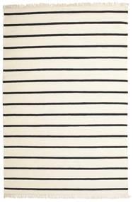 Dorri Stripe - Valkoinen/Musta Matto 200X300 Moderni Käsinkudottu Beige/Tummanharmaa (Villa, Intia)