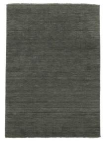 Handloom Fringes - Tummanharmaa Matto 250X350 Moderni Tummanharmaa Isot (Villa, Intia)