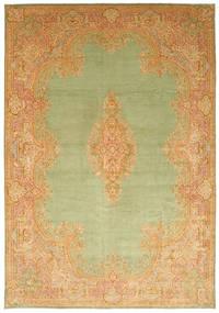 Kerman Matto 394X570 Itämainen Käsinsolmittu Tummanbeige/Vaaleanvihreä/Vaaleanruskea Isot (Villa, Persia/Iran)