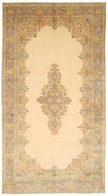 Kerman Matto 317X595 Itämainen Käsinsolmittu Tummanbeige/Beige Isot (Villa, Persia/Iran)