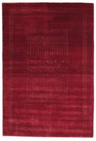 Gabbeh Loribaft Matto 150X223 Moderni Käsinsolmittu Tummanpunainen/Punainen (Villa, Intia)