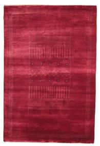 Gabbeh Loribaft Matto 146X222 Moderni Käsinsolmittu Punainen/Tummanpunainen (Villa, Intia)
