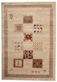 Gabbeh Loribaft Matto 150X217 Moderni Käsinsolmittu Ruskea/Beige (Villa, Intia)