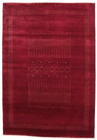 Gabbeh Loribaft Matto 151X219 Moderni Käsinsolmittu Tummanpunainen/Punainen (Villa, Intia)